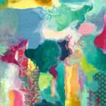 o.T., Collage auf Papier, 50x70cm, 2014