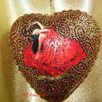 Сердечко (папье-маше) контуры