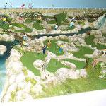 Maquette du Mini Golf avec circuit d'eau en fonctionnement