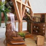 Intérieur de la maquette de la boutique - la chute d'eau - Champrepus