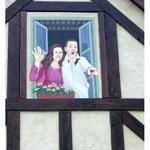 Trompe l'Oeil - Couple à la fenêtre - Festyland