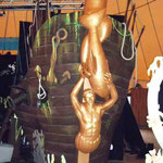 Proue de l'épave du Navire, spectacle intérieur - Marineland