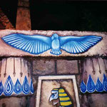 """Aigle au-dessus de la porte d'Horus - """"Trésor du Pharaon"""""""
