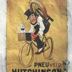 Affiche Hutchinson peinte façon faux papier