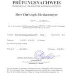 Prüfungsnachweis Durchstrahlungsprüfung (RT)