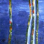 Zauberbäume blau