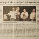 Singen macht Spaß, hält gesund und verbindet Generationen IKZ vom 17.11.2015