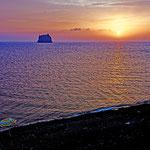2019: Abendstimmung auf der Insel Stromboli