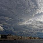 2017: Blick auf St. Petersburg, links die Eremetage (Winterpalast)