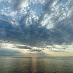 2012: Bei der morgentlichen Anfahrt nach Sardinien