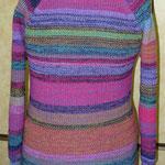 """buntes Pulloverkleid Madlen mit großem Kragen > viel mehr Bilder + Infos unter """"Werkstücke"""""""