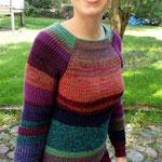 buntes Pulloverkleid Madlen > mehr Bilder und Details unter Werkstücke