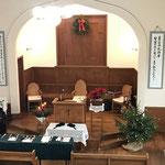 クリスマス礼拝開始直前