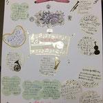 礼拝後、原田牧師就任2周年を祝う茶話会があり、そこで感謝の寄せ書きが贈られた。