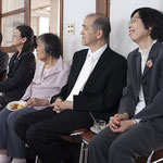 南名古屋教会 山川牧師ご夫妻  原田牧師夫妻とお母様(福岡ベタニヤ村教会員)