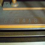 刻まれているのは製造番号 1961年に製造されたものです。