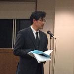 吉田真司・講演会司会(相模中央教会牧師・連盟副理事長)