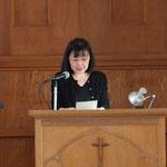 ①信仰告白 神と会衆の前で信仰を表明する作文を読みます。