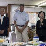 清水教会 萩原牧師と教会員