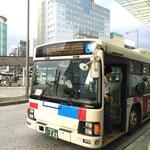 ④70・90番 県立総合病院行きバスに乗車します。