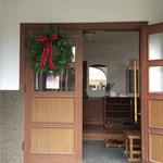 玄関入り口のリース