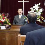 西関東地方連合を代表して祝辞 伊藤勝彦牧師(連合会長・浜松教会)