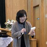 西関東地方連合女性会 百瀬会長(松本蟻ヶ崎教会) お世話になりました。