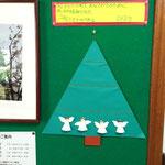 アドベント・カレンダー by子どもたち @受付掲示板