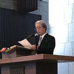 司会 佐々木美知夫牧師(日本基督教団静岡教会)
