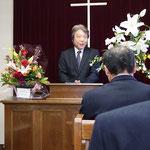 日本バプテスト連盟を代表して祝辞 吉高叶常務理事