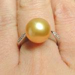 Bague perle gold, Joaillerie Tournis, Bordeaux, fabricant