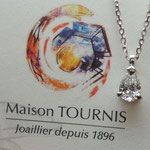 Pendentif diamant, Joaillerie Tournis, Bordeaux, fabricant