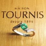 Bague Emeraude et diamants, Joaillerie Tournis, Bordeaux, fabricant