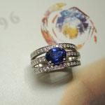 Bague saphir et diamants, Joaillerie Tournis, Bordeaux, fabricant