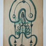 Versöhnungszeichen, 2005, Tusche auf Konsumtüte I