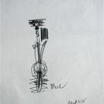 Ekel, Graphit auf Seidenpapier, 1995