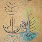 Zum Versöhnungszeichen, 2003, Fettkreide auf Fettpapier,