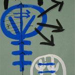 Zu Fühlen und Denken II, 2000, IIIIII IIIII I, Tusche auf Achatpapier