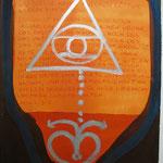 Versöhnungszeichen, 2003, Tusche, Kreide, Silberbronce auf Bütten