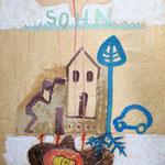 Zum Versöhnungszeichen, 2003, Fettkreide, Acryl auf Fettpapier