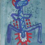 o. T., 1996, Tusche auf Aquarellkarton, 43 cm x 61cm