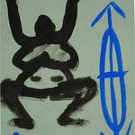 Zu Fühlen und Denken II, Nummer IIIII IIII, 2000, Tusche auf Achatpapier