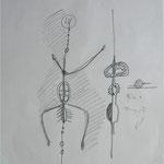 Yin+Yang, Graphit auf Seidenpapier, 1995