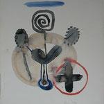 Zeichnung, 1997, Tusche auf Aquarellkarton