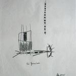 Die Gemeinen, Graphit auf Seidenpapier, 1995