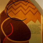 Zum Versöhnungszeichen, 2003, Acryl auf Folie, Wandbespannung