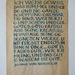 Rückseite Versöhnungszeichen, 2005, Tusche auf Konsumtüte