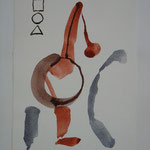 Zeichnung, 1985, Tusche auf Bütten