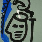 Zu Fühlen und Denken II, Nummer IIIIII IIIII, 2000, Tusche auf Achatpapier