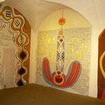 Versöhnungszeichen, 2003, Acryl auf Folie, Wandbespannung